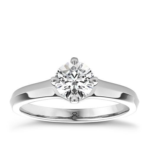The Diamond Story 18ct White Gold 1ct diamond solitaire ring - Product number 4090152