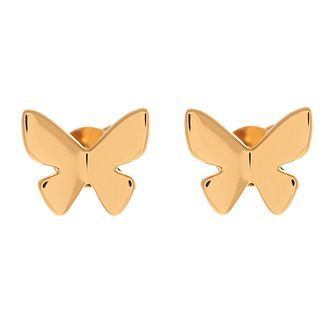 Olivia Burton Gold Metal Plated Butterfly Stud Earrings - Product number 4090454