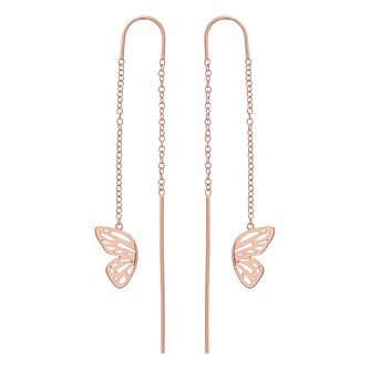 Olivia Burton Rose Gold Metal Plated Butterfly Drop Earrings - Product number 4090551