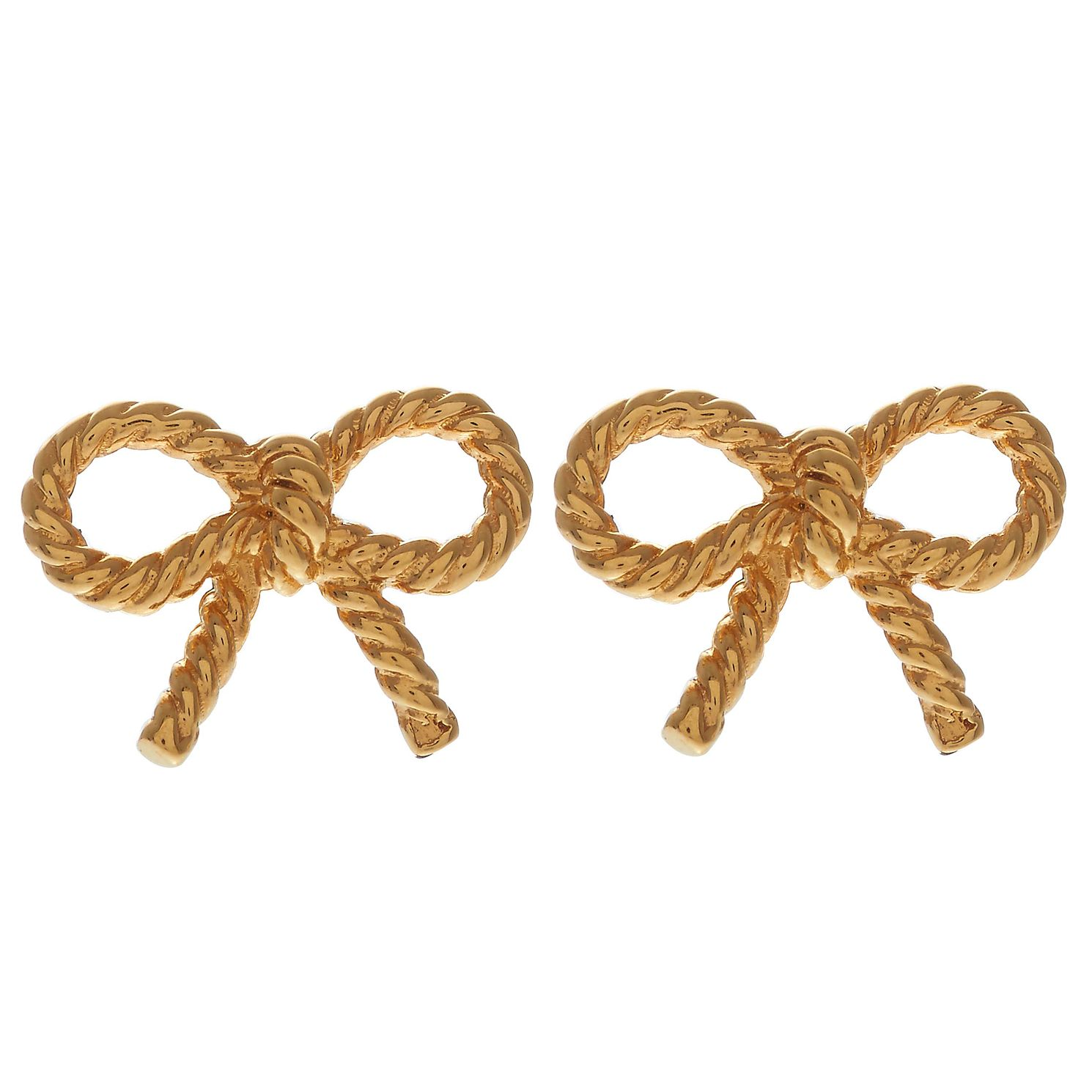 Olivia Burton Vintage Bow Yellow Gold Metal Plated Earrings - Product number 4090632