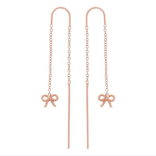 Olivia Burton Vintage Bow Rose Gold Metal Plated Earrings - Product number 4090640