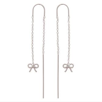 Olivia Burton Vintage Bow Silver Drop Earrings - Product number 4090659