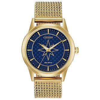 Citizen Captain Marvel Gold Tone Bracelet Watch - Product number 4092988
