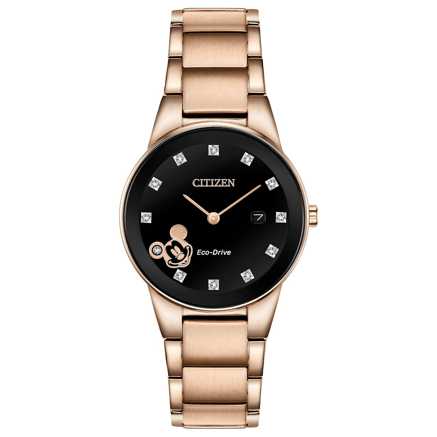 Citizen Disney Mickey Ladies' Rose Gold Tone Bracelet Watch - Product number 4093003