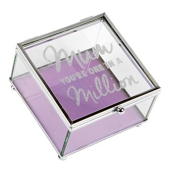WM. Widdop Mum In A Million Glass Trinket Box - Product number 4093410