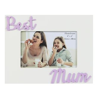 WM. Widdop Best Mum Wooden Photo Frame - Product number 4093429