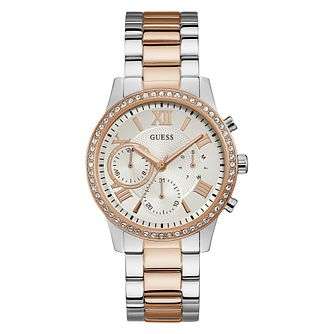Guess Ladies' Crystal Case Two Tone Bracelet Watch - Product number 4094115