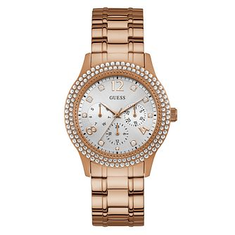 Guess Ladies' Crystal Case Rose Gold Tone Bracelet Watch - Product number 4094123