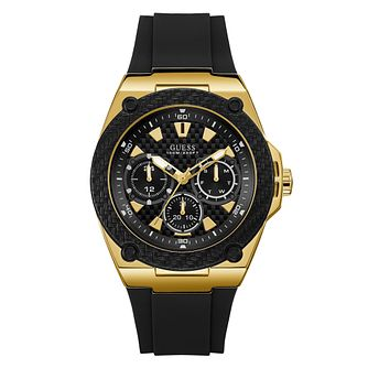 Guess Men's Black Silicone Strap Watch - Product number 4094395