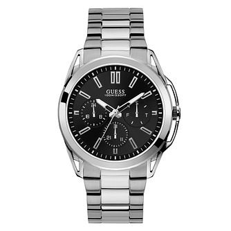 Guess Men's Black Dial Stainless Steel Bracelet Watch - Product number 4094417