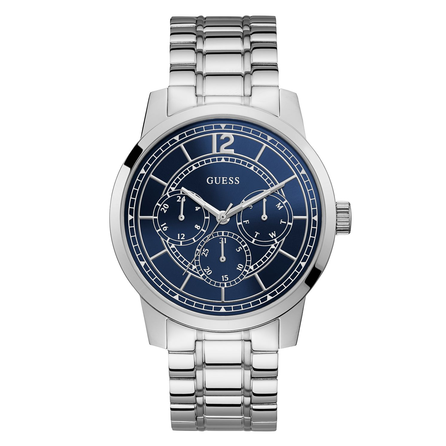 Guess Men's Blue Dial Stainless Steel Bracelet Watch - Product number 4094646