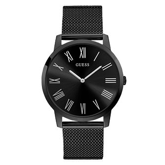 Guess Men's Black Stainless Steel Mesh Bracelet Watch - Product number 4094654
