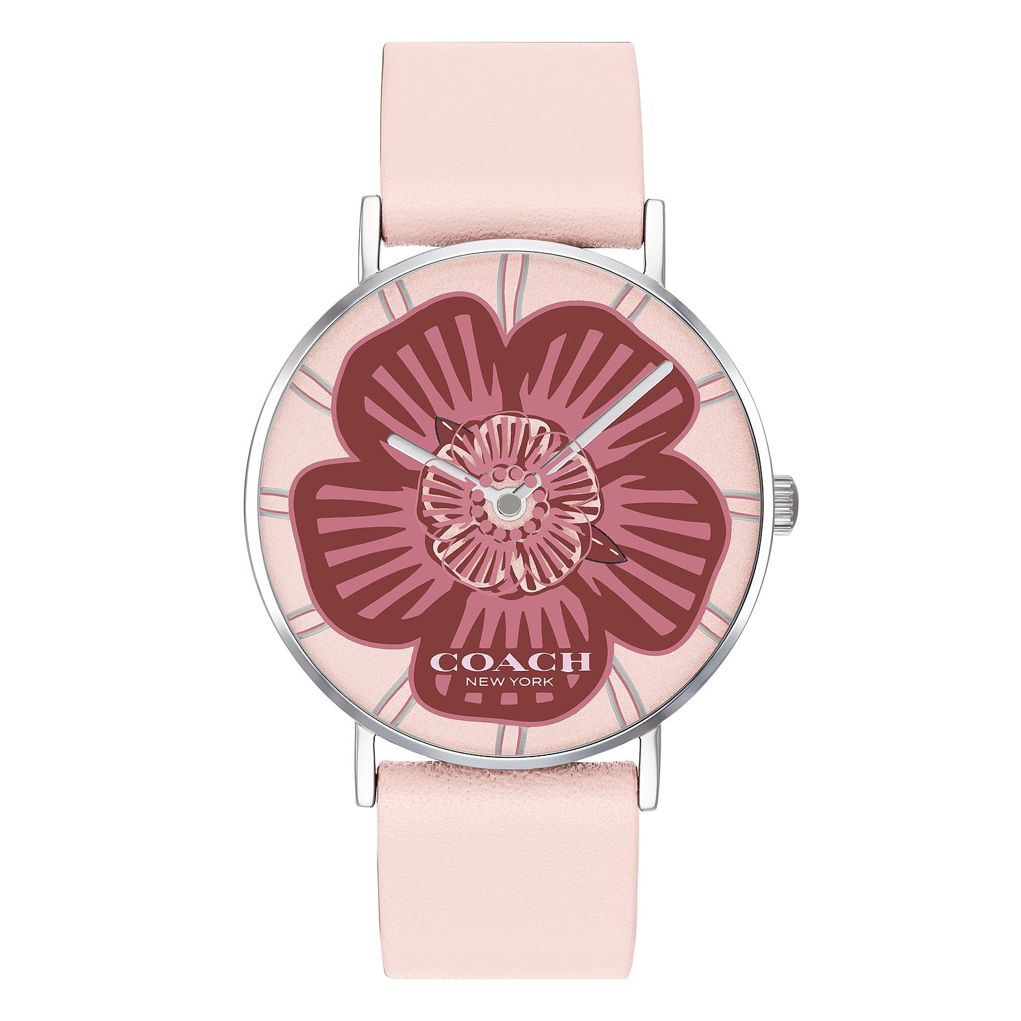 Coach Perry Ladies' Pink Leather Strap Watch - Product number 4094689