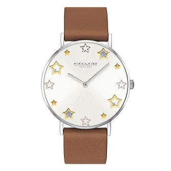 a5e97f1abe035 Coach Perry Ladies' Brown Leather Strap Watch
