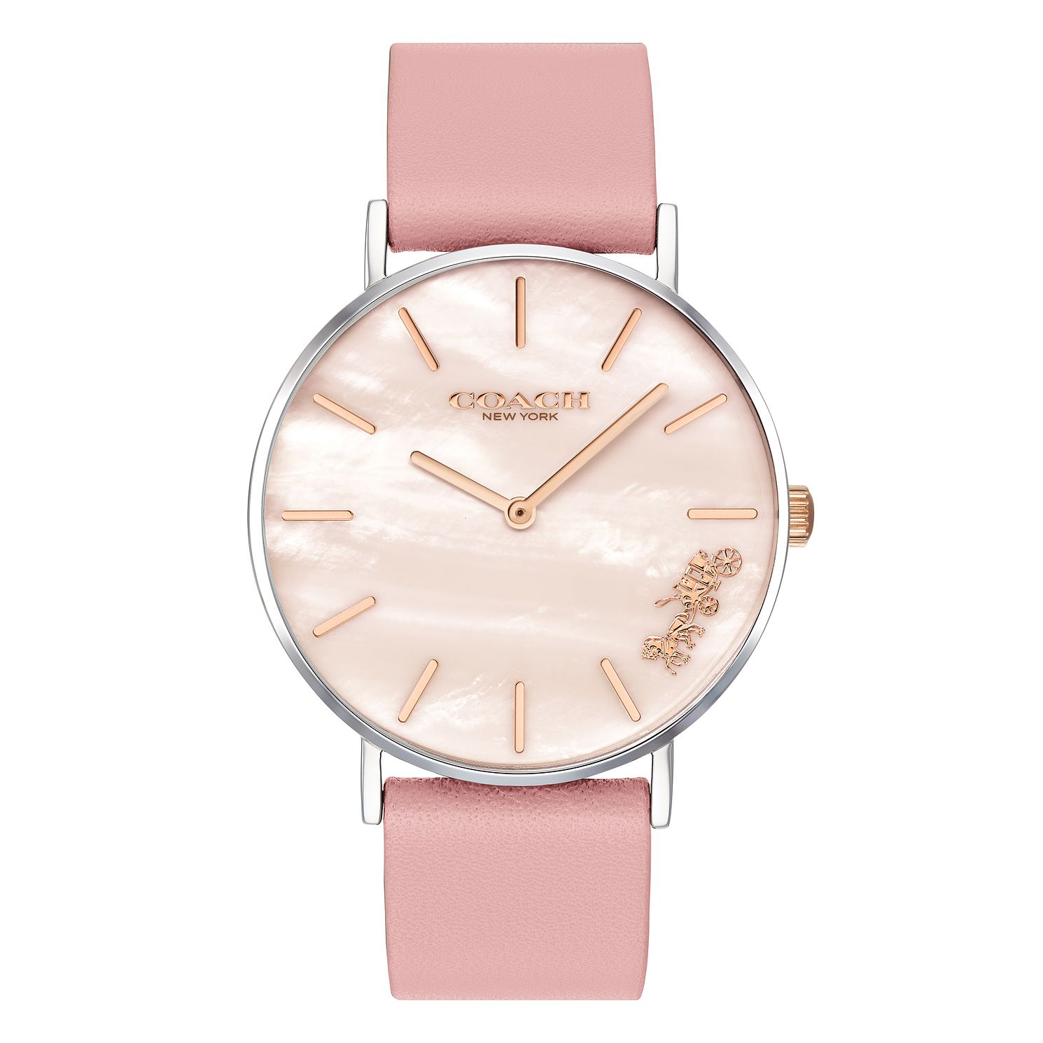 Coach Perry Ladies' Pink Leather Strap Watch - Product number 4094727
