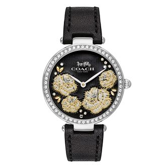 Coach Park Ladies' Black Leather Strap Watch - Product number 4094735