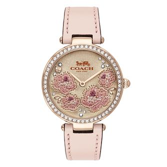 Coach Park Ladies' Pink Leather Strap Watch - Product number 4094743
