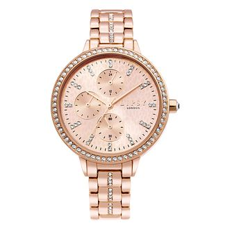 Lipsy Glitz Dial Ladies' Rose Gold Tone Bracelet Watch - Product number 4094786