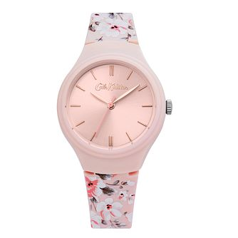 Cath Kidston Spitalfield Ladies' Pink Silicone Strap Watch - Product number 4094816