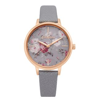 Cath Kidston Brampton Bunch Ladies' Grey Leather Strap Watch - Product number 4094824