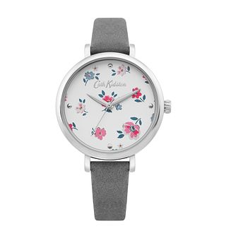 Cath Kidston Brampton Ditsy Ladies' Grey Suede Strap Watch - Product number 4095316