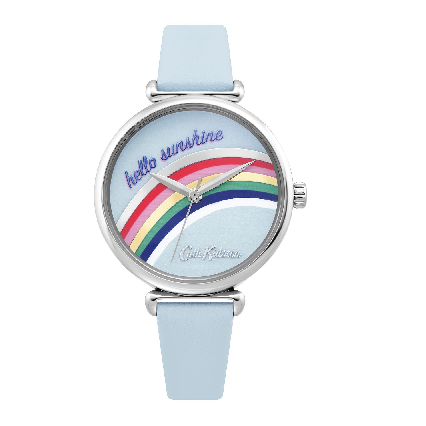 Cath Kidston Rainbow Ladies' Blue Leather Strap Watch - Product number 4095359