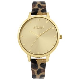 Missguided Ladies' Leopard Print PU Strap Watch - Product number 4095367