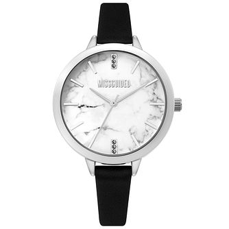 Missguided Ladies' Marble Dial Black PU Strap Watch - Product number 4095383
