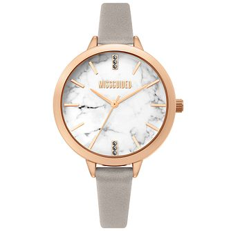Missguided Ladies' Marble Dial Mink PU Strap Watch - Product number 4095391