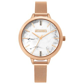 Missguided Ladies' Marble Dial Rose Gold Tone Bracelet Watch - Product number 4095405