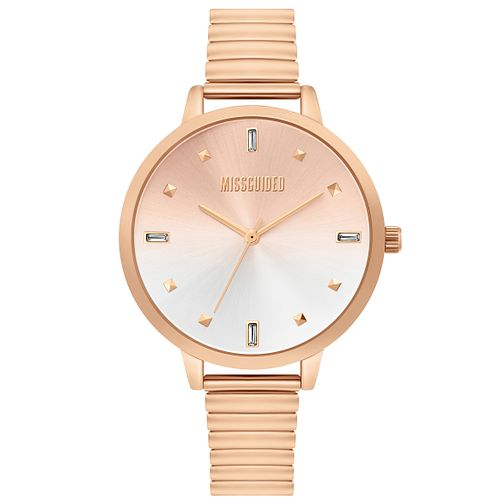 Missguided Ladies' Rose Gold Expander Bracelet Watch - Product number 4095421