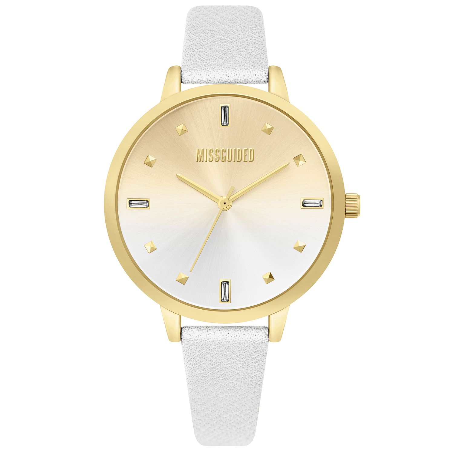 Missguided Ladies' Silver Metallic PU Strap Watch - Product number 4095464