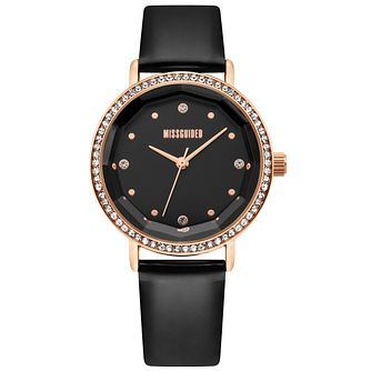 Missguided Ladies' Black PU Strap Watch - Product number 4095472