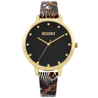 Missguided Ladies' Animal Patterned Print PU Strap Watch - Product number 4095529