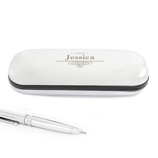Engraved Decorative Pen and Box Gift Set - Product number 4095731