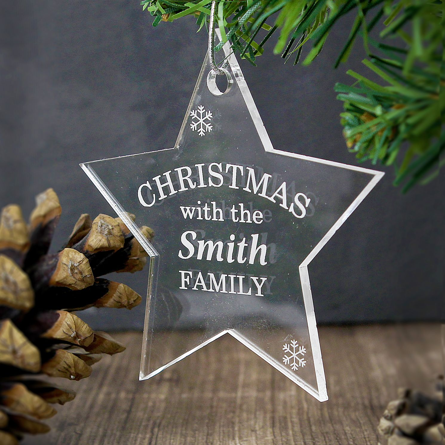 Personalised Acrylic Christmas Star Decoration - Product number 4095766