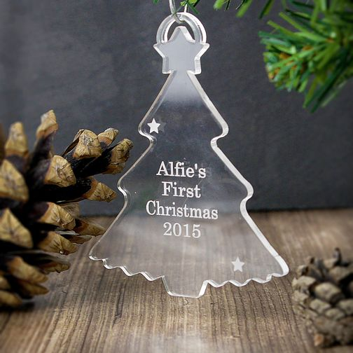 Personalised Acrylic Christmas Tree Ornament - Product number 4095804