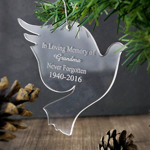 Personalised Acrylic Dove Ornament - Product number 4095928