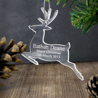 Acrylic Reindeer Decoration - Product number 4095936