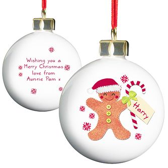 Felt Stitch Gingerbread Man Bauble - Product number 4095960