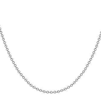 "Lily & Lotty Rhodium Plated 20"" Belcher Chain - Product number 4097173"