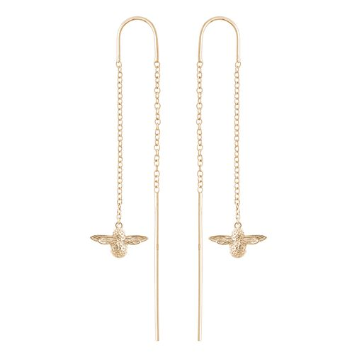 Olivia Burton Queen Bee Yellow Gold Plated Drop Earrings - Product number 4097661