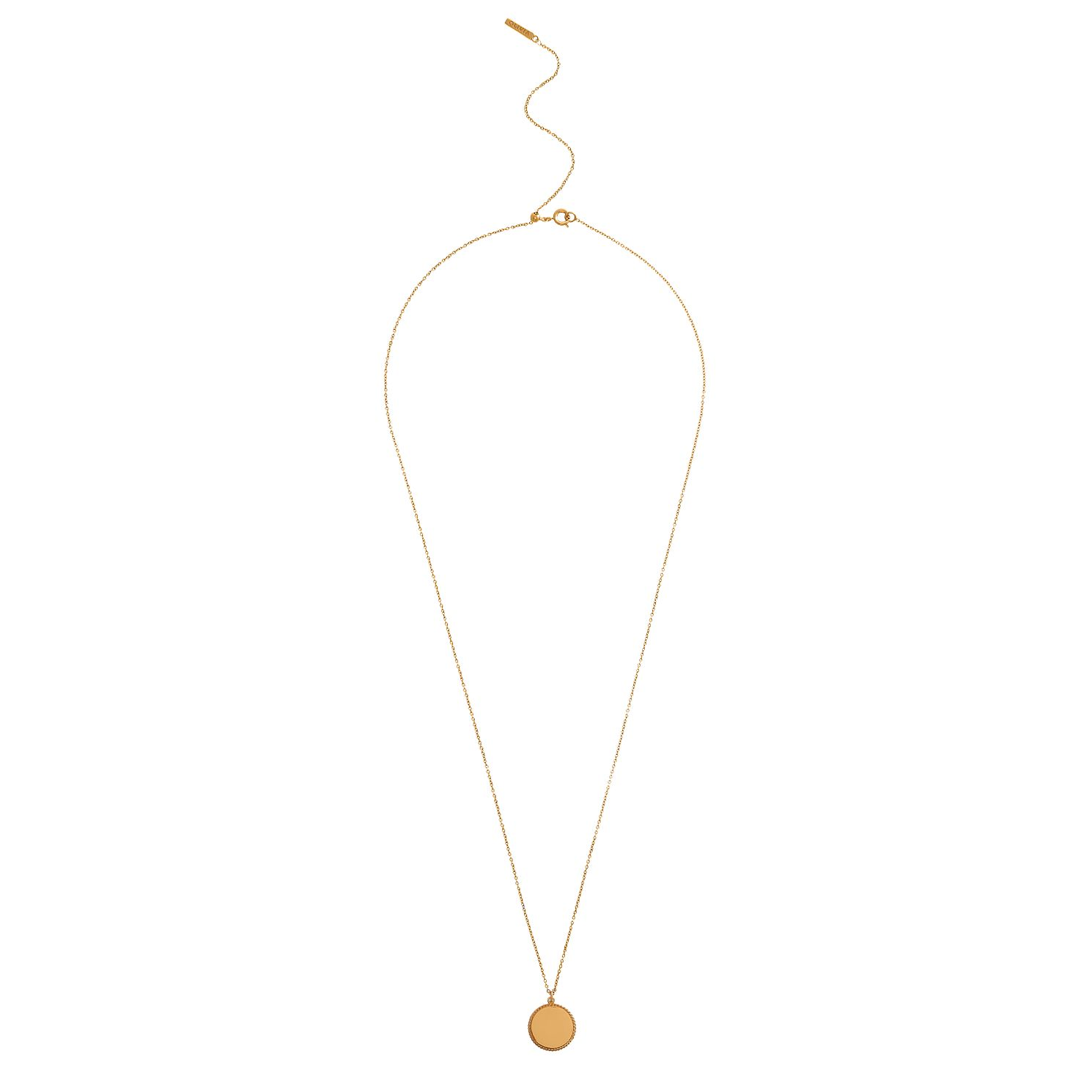 Olivia Burton Yellow Gold Metal Plated Engravable Pendant - Product number 4097998