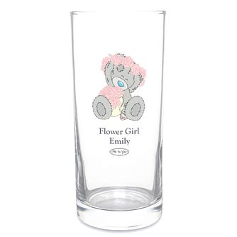Personalised Me To You Wedding Flower Girl Hi Ball Glass - Product number 4098919