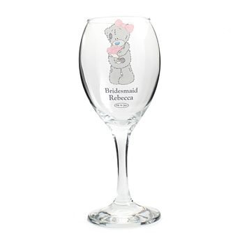Personalised Me To You Pink Bear Glass - Product number 4098927
