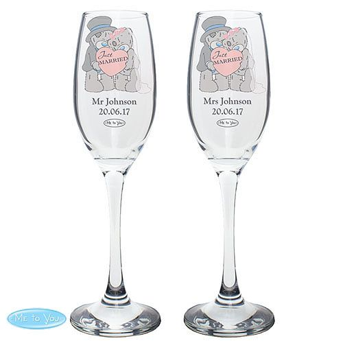 Me To You Bride & Groom Flutes - Product number 4098978