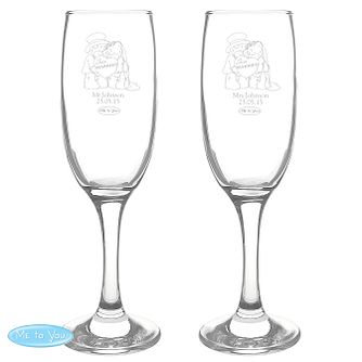 Personalised Me To You Wedding Pair Of Flutes Gift Set - Product number 4098994