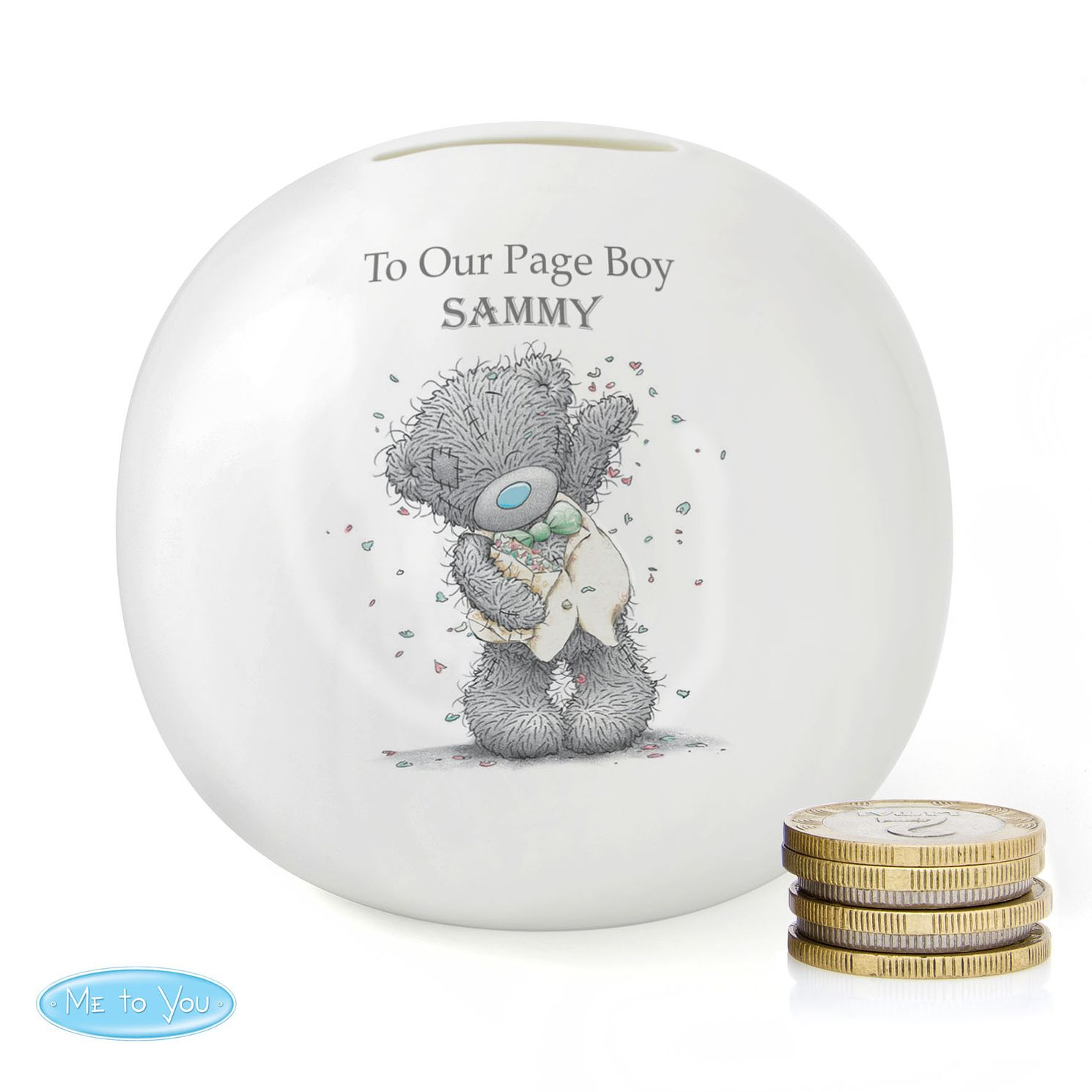 Personalised Me To You Wedding Male Money Box - Product number 4099028