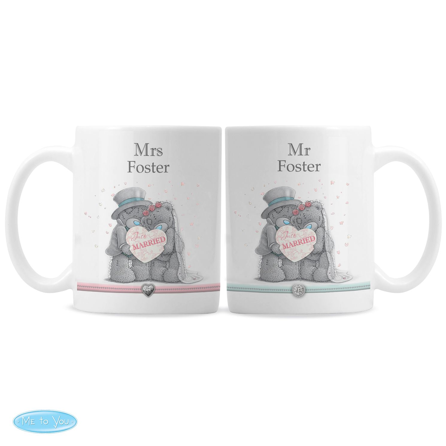Personalised Me To You Wedding Couple Mug Gift Set - Product number 4099060