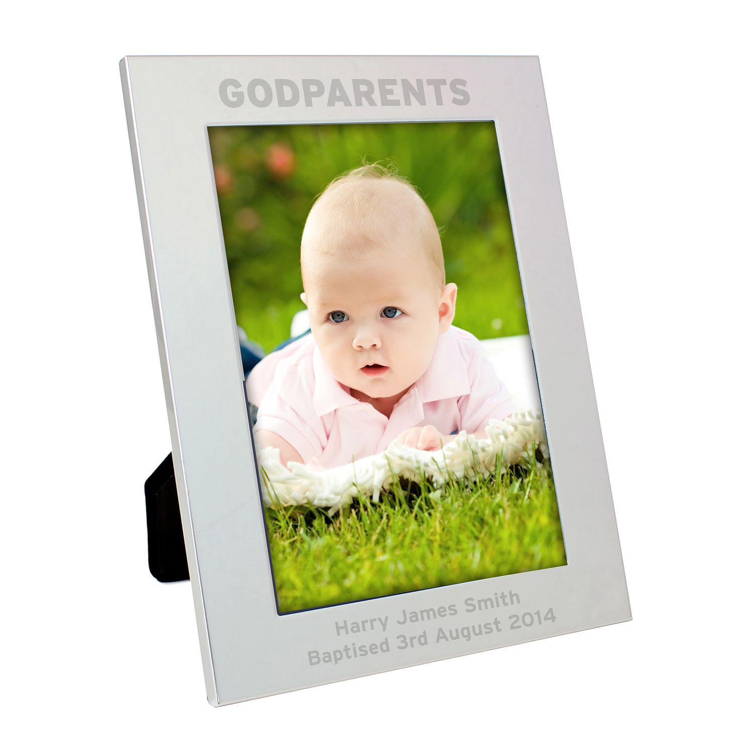 Personalised Silver 5x7 Godparents Frame - Product number 4099206
